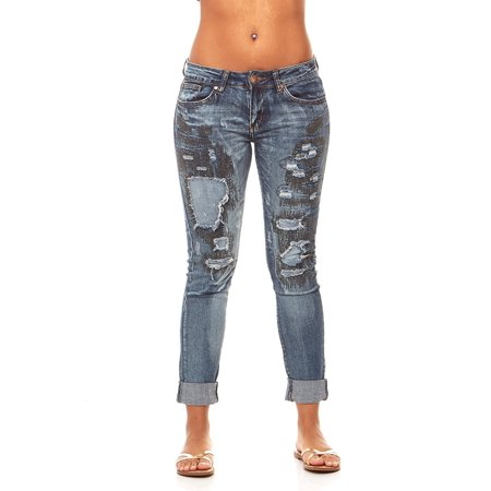 VIP Jeans for women   Ripped Distressed and Repaired Butt Lift Skinny jeans with Comfort Stretch   Junior sizes stylish colors and washes