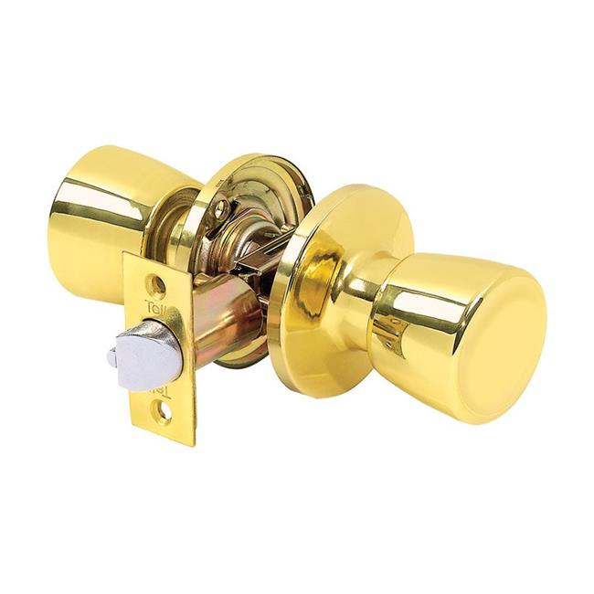 Tell Manufacturing 5005092 Alton Bright Brass Steel Passage Lockset for ANSI Grade 3 - 1.75 in.