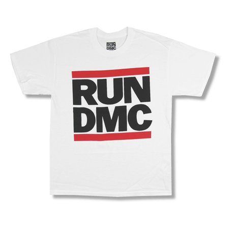 Run DMC Classic Logo Image White T Shirt](Run Dmc Costume)
