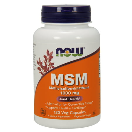 - NOW Supplements, MSM (Methylsulfonylmethane)1000 mg, 120 Veg Capsules
