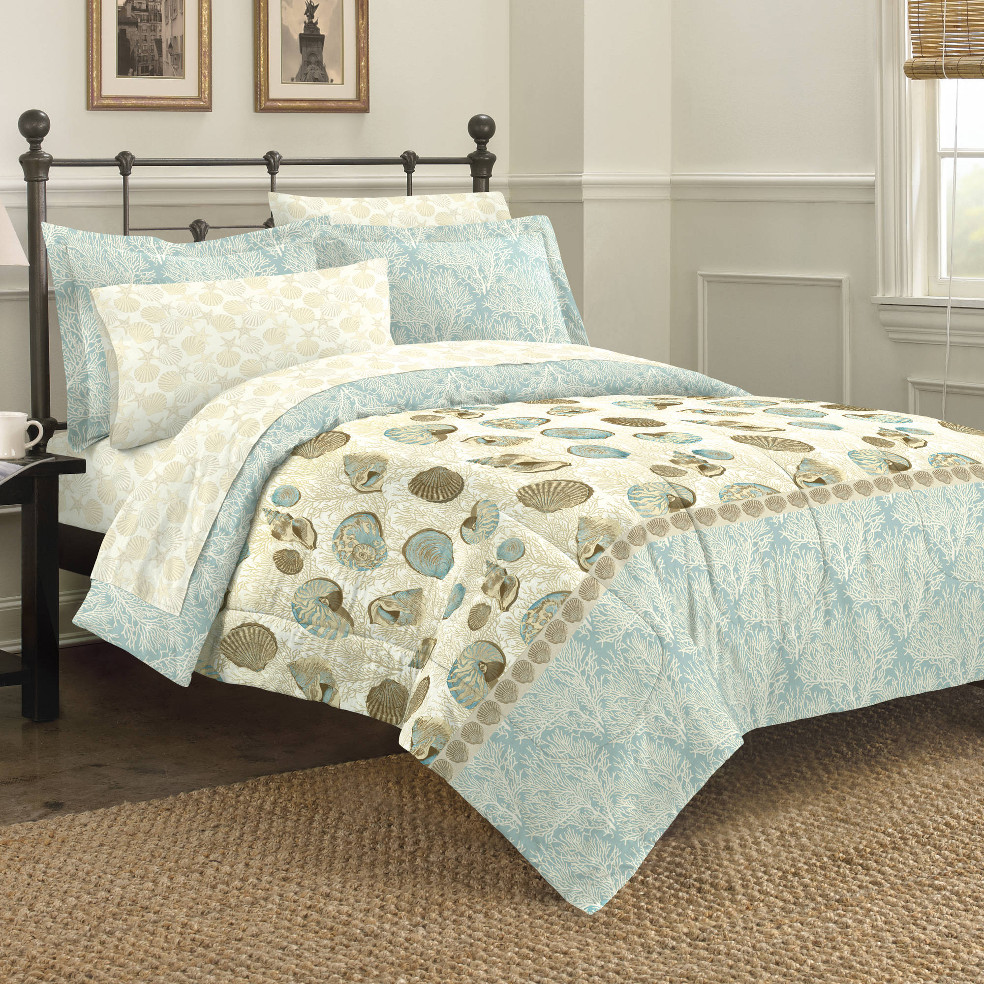 Discoveries Sea Breeze Comforter, Sham and Sheet Set