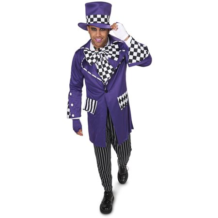 Gothic Mad Hatter Men's Adult Halloween Costume](Crazy Mad Hatter Costume)