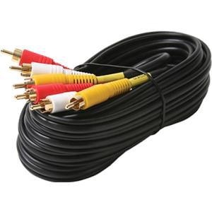 206-277 STEREN A/V CABLE GOLD CONNECTORS 12FT