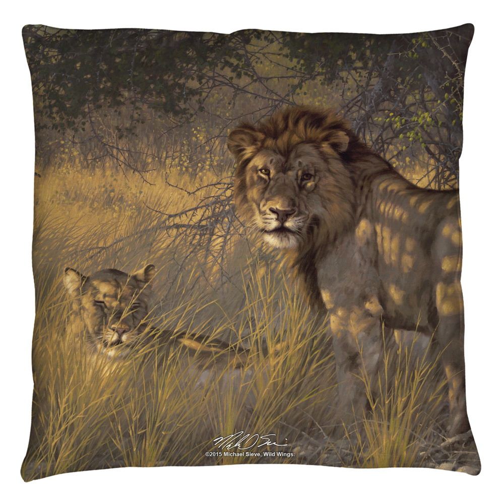 Wild Wings Ladies & Gentleman 2 Throw Pillow White 14X14