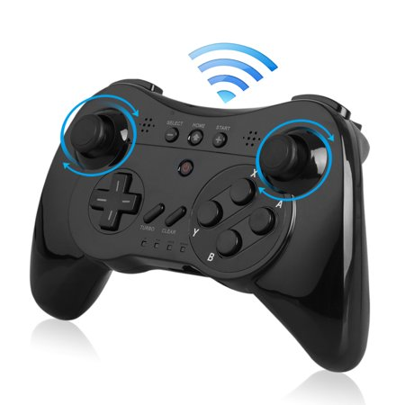 Wireless Controller for Nintendo Wii U, EEEKit Wireless Pro Controller Gamepad Joypad Joystick Seamless Control with Built-in Dual Analog (Dual Stick Game Pad)