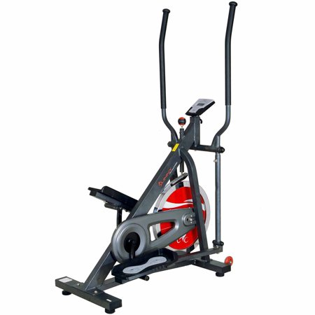 Sunny Health & Fitness SF-E2310 44lb Chain Drive Flywheel Elliptical Trainer Elliptical Machine w/ LCD Monitor
