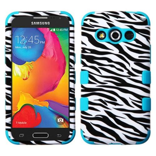 Insten Zebra Hard Hybrid Rugged Shockproof Cover Case For Samsung Galaxy Avant - Black/White