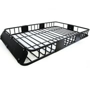 Fit Jeep Car Roof Top Basket Travel Luggage Carrier Cargo Rack + Extension Fit Jeep Grand Cherokee Patriot 2005 2006 200