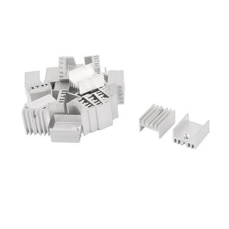 17mmx15mmx10mm aluminium power amplifier heat sink radiator heatsink 25pcs. Black Bedroom Furniture Sets. Home Design Ideas