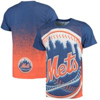 New York Mets Big Logo T-Shirt - Royal/Orange