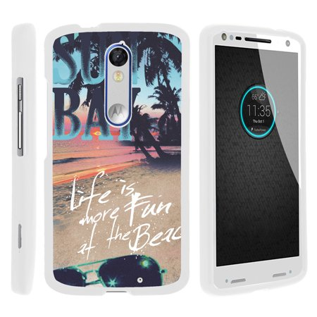new arrival 39748 cfb35 Motorola Droid Turo 2 XT1585, Moto X Force, Kinzie, [SNAP SHELL][White]  Hard White Plastic Case with Non Slip Matte Coating with Custom Designs -  Life ...
