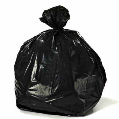 100 Total Bags - Plasticplace 55-60 Gallon Trash Bags on Rolls - Black, total of 100 bags