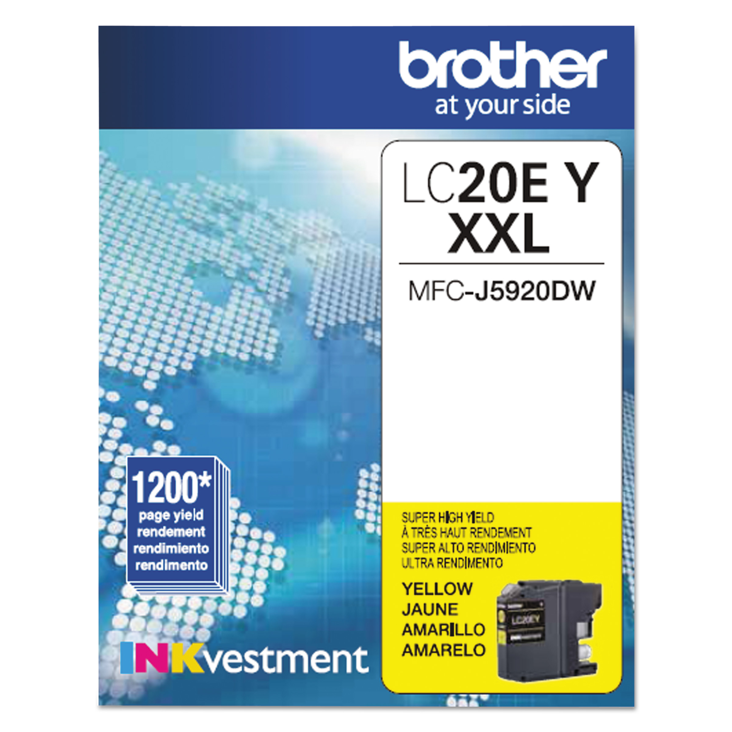 Brother LC20EY INKvestment Super High-Yield Ink, Yellow