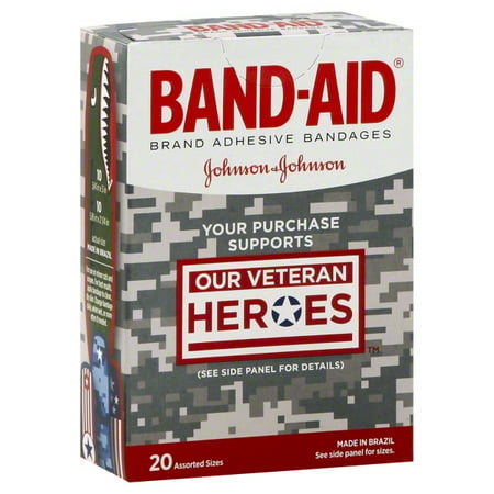 Johnsons Plastic Bandages (Johnson & Johnson Band Aid  Bandages, 20 ea )