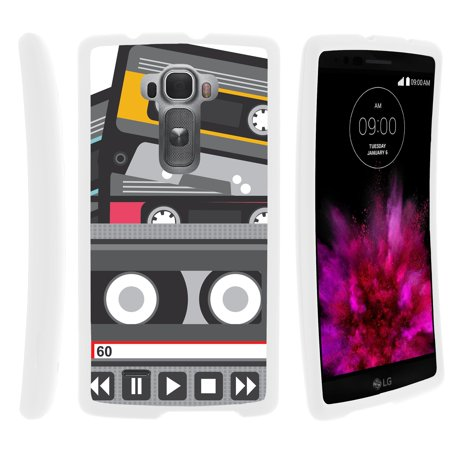 - TurtleArmor ® | For LG G Flex 2 H955, H950 [Slim Duo] Two Piece Hard Cover Slim Snap On Case - Old Cassette Player