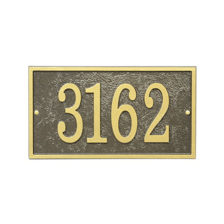 Personalized Whitehall Products Fast & Easy Rectangle House Numbers Plaque