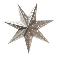 LumaBase 7 Point Star Paper Lantern - Set of 3