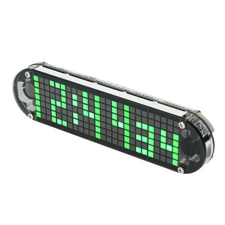Electronic Dot Matrix Time Recorder - DS3231 High Accuracy DIY Digital Dot Matrix LED Alarm Clock Kit with Transparent Case Temperature Date Time Display