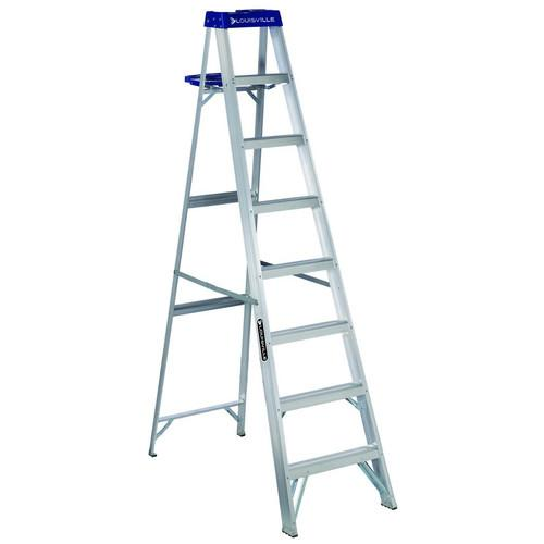 Louisville Ladder AS2110 10' Aluminum Step Ladder with Molded Pail Shelf, Type I, 250 Lbs Rated