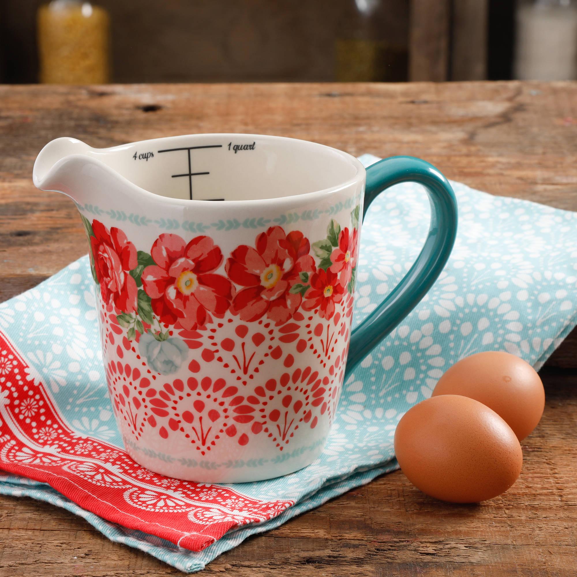 The Pioneer Woman 4 Cup Vintage Floral Measuring Cup, 1 Each