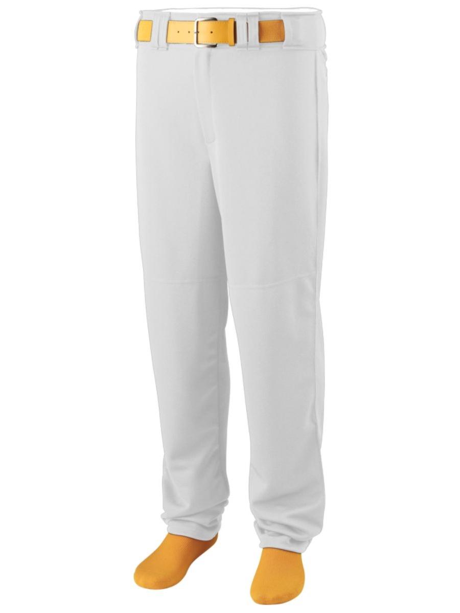 Augusta Sportswear Men's Walk Off Baseball Pant S White by Augusta