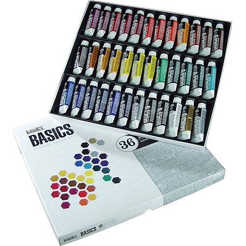 Liquitex Basics Acrylic Paint 22ml/Tube, Assorted Colors, 36/pkg