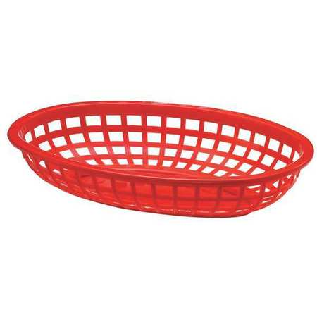 Tablecraft Products Company 1074R  Oval Food Serving Basket,  Red - Pack of 36
