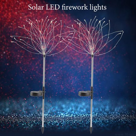 2Pcs Firework Fairy Light Solar Powered Outdoor LED String Lights Party Holidays Decorative Firework Fairy Light, Solar Fairy Light - Outdoor Party String Lights