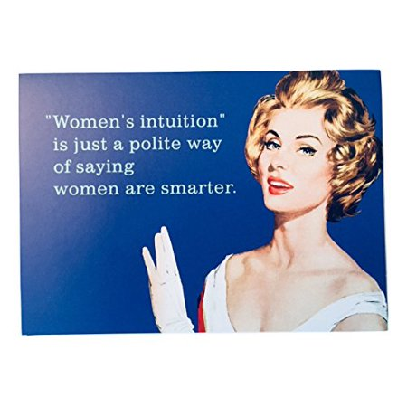 Hallmark Women's Intuition Is Just a Polite Way of Saying Women are Smarter Set of 10 Blank Greeting Cards and Envelopes with Vintage Art