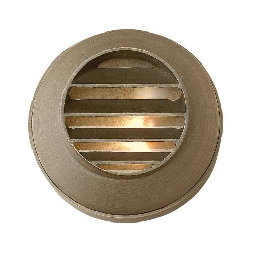 "Hinkley Lighting 16804 12v 20w Solid Brass 3.5"" Diameter Landscape Recessed Louvered Step Light from the Hardy Island Collection"