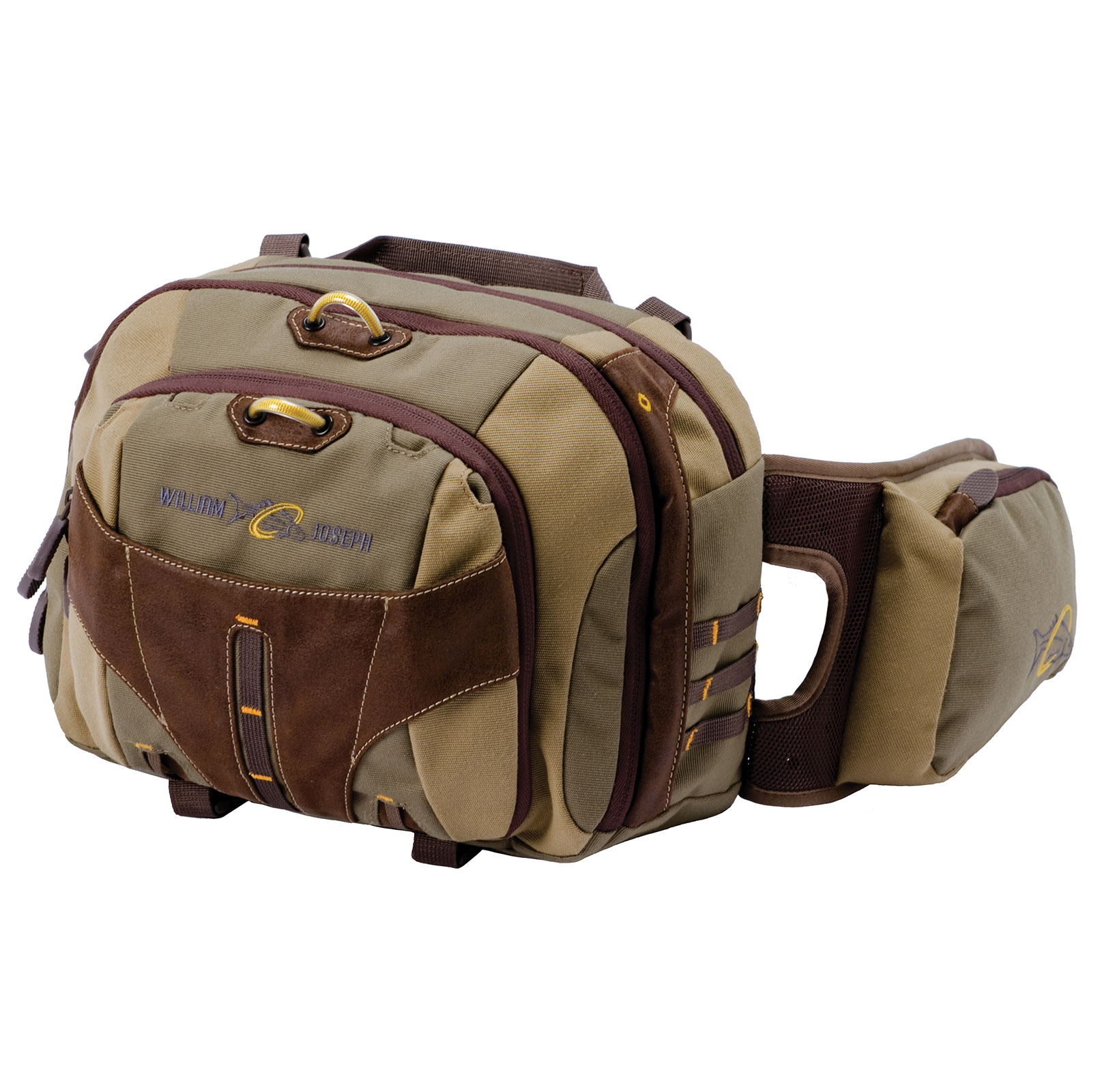 William Joseph Old School Fly Fishing Lumbar Chest or Fanny Pack Waist Bag