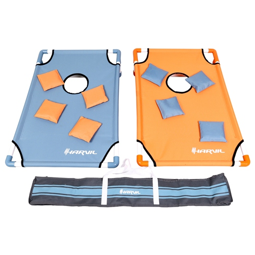 Harvil Portable Premium PVC Framed Cornhole Game Set with 8 Double-Lined Beanbags and... by Harvil