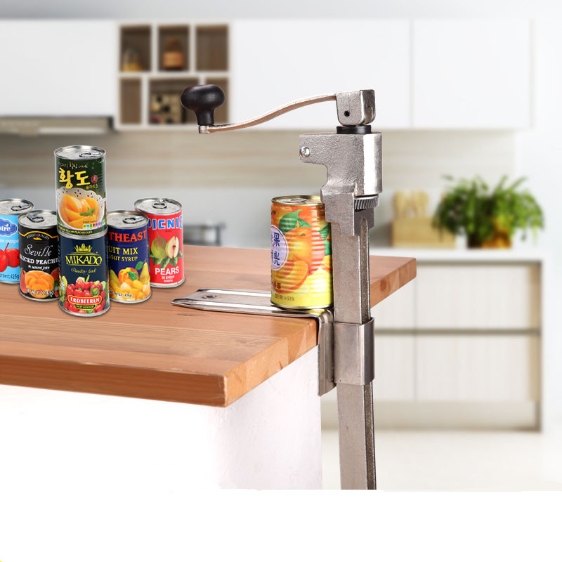 """Commercial Catering Can Opener, Heavy Duty Steel Bench Top Cast Kitchen Can Opener for Cans Up to 13"""" High"""