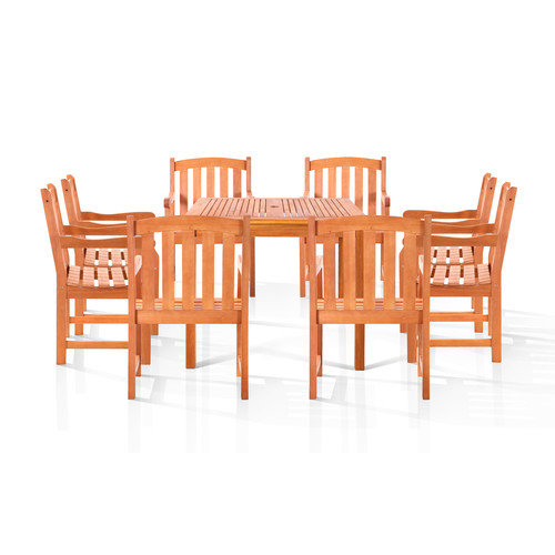 Vifah Stanley 9 Piece Dining Set