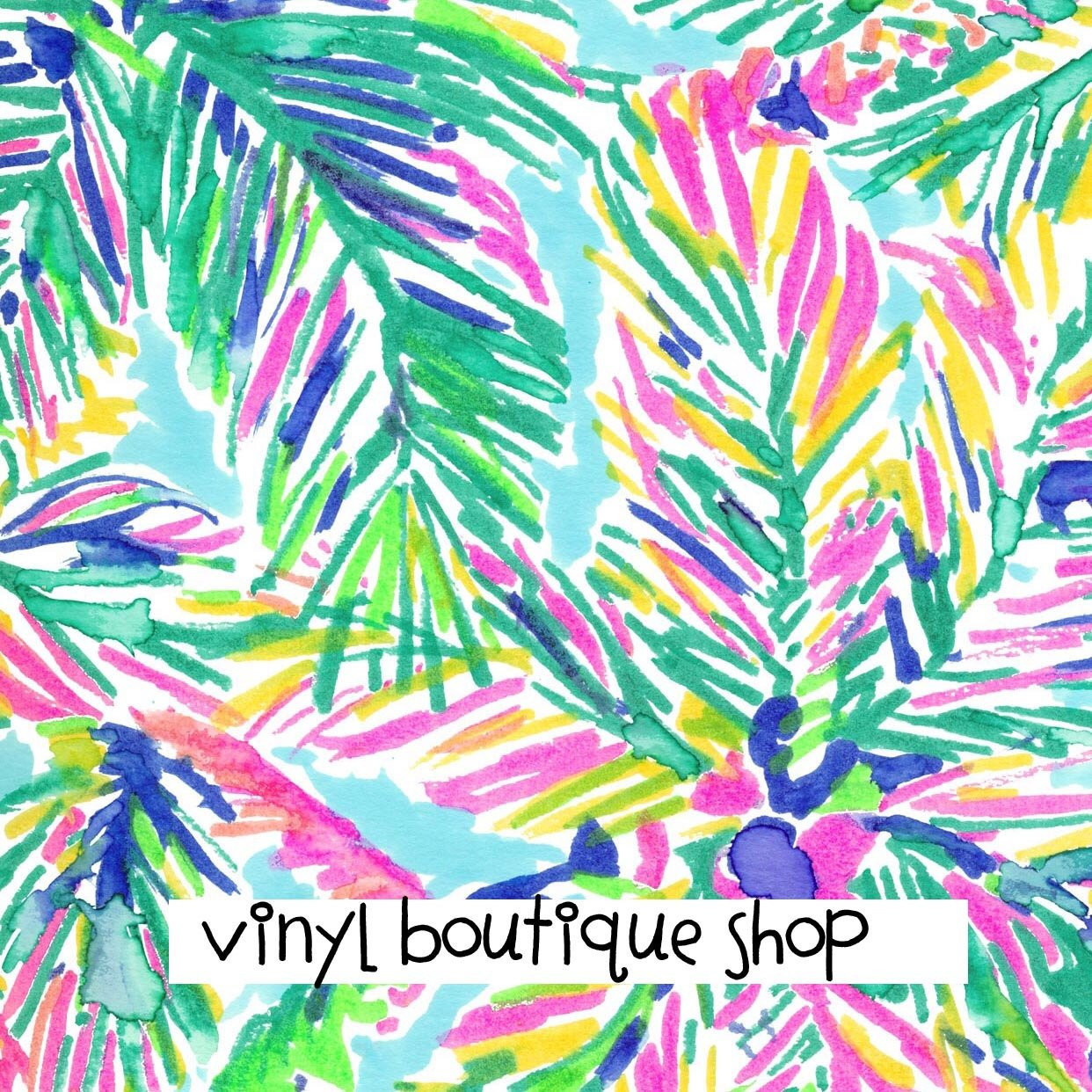 Exotic Garden Lilly Inspired Printed Patterned Craft Vinyl
