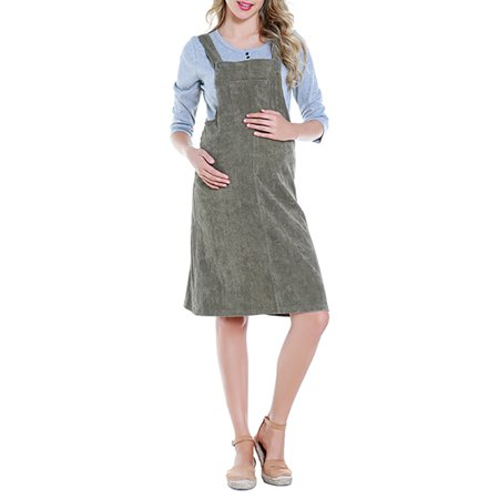 Utowu Maternity Women Pregnant Dungaree Dress Ladies Overall Summer Pinafore Dress