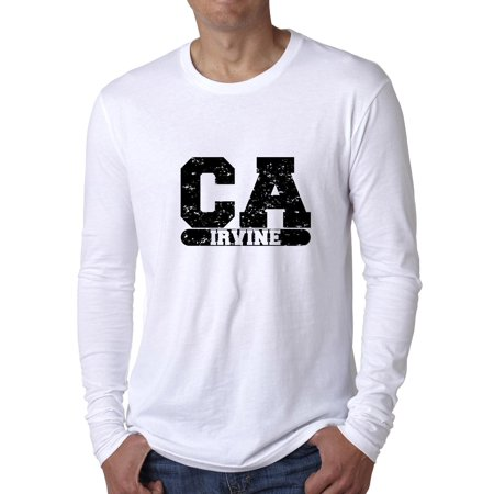 Irvine, California CA Classic City State Sign Men's Long Sleeve T-Shirt