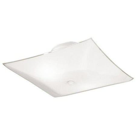 Westinghouse 6620100 2 Light Semi-Flush Ceiling Light Fixture - Light Cover