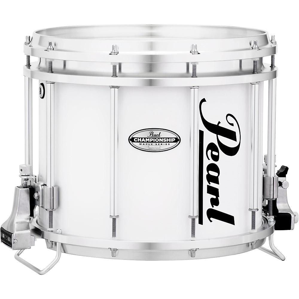 Pearl Championship Maple FFX Marching Snare Drum 13 x 11 in. Pure White