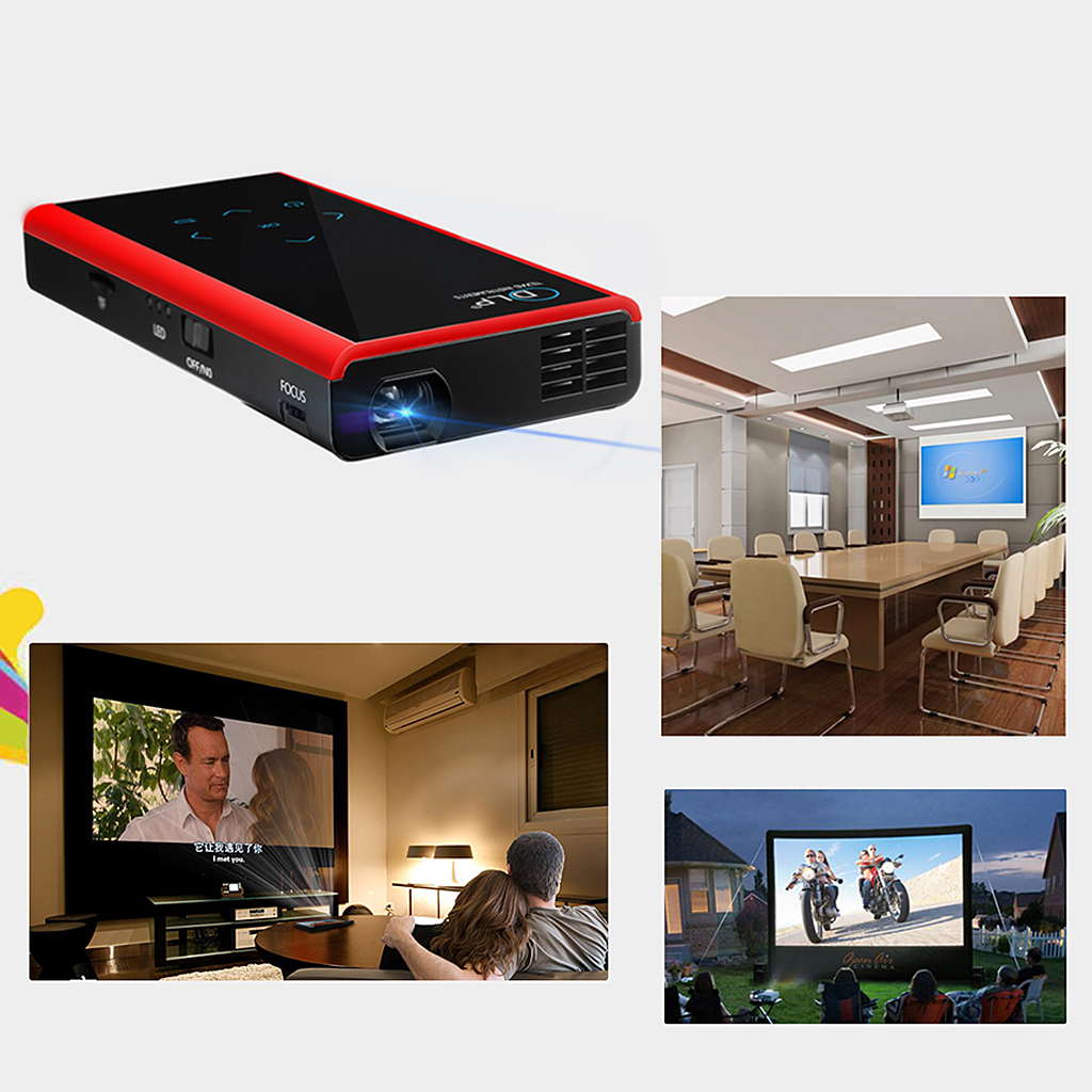 Mini Portable DLP Projector,Wireless Wifi HD Support 1080p
