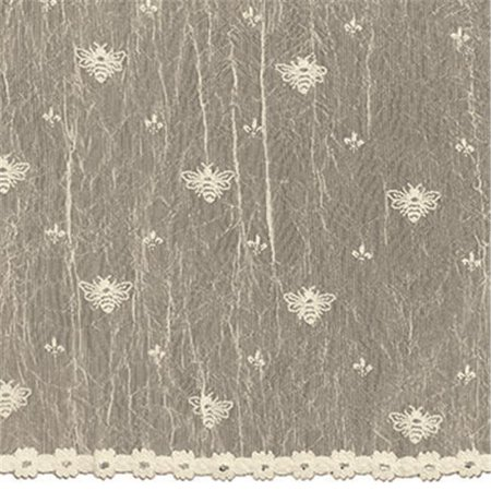 heritage lace 7165e-4563 bee 45 x 63 in. panel, ecru