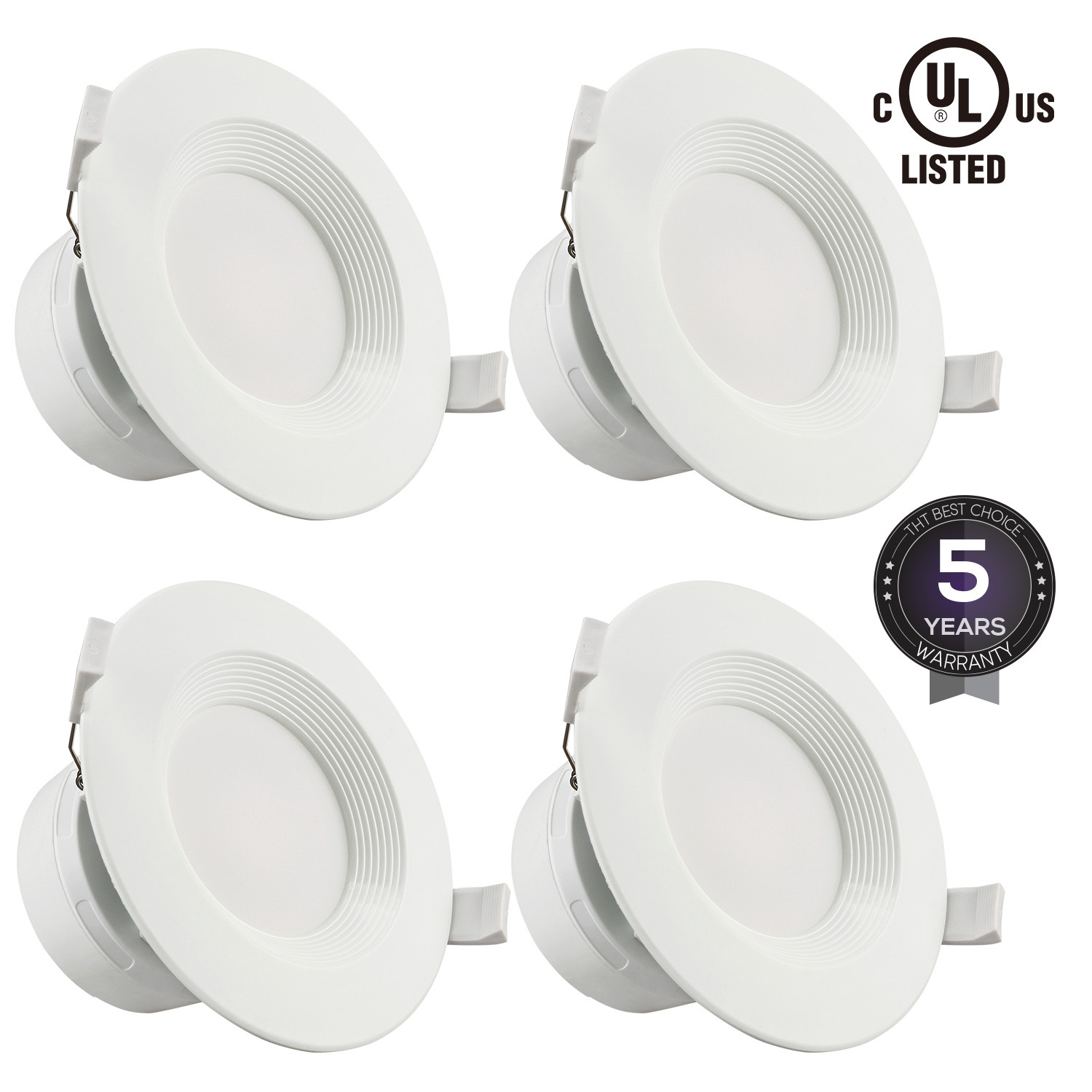 4 Pack 4 Inch 7W LED Recessed Lighting, 2700K Soft White