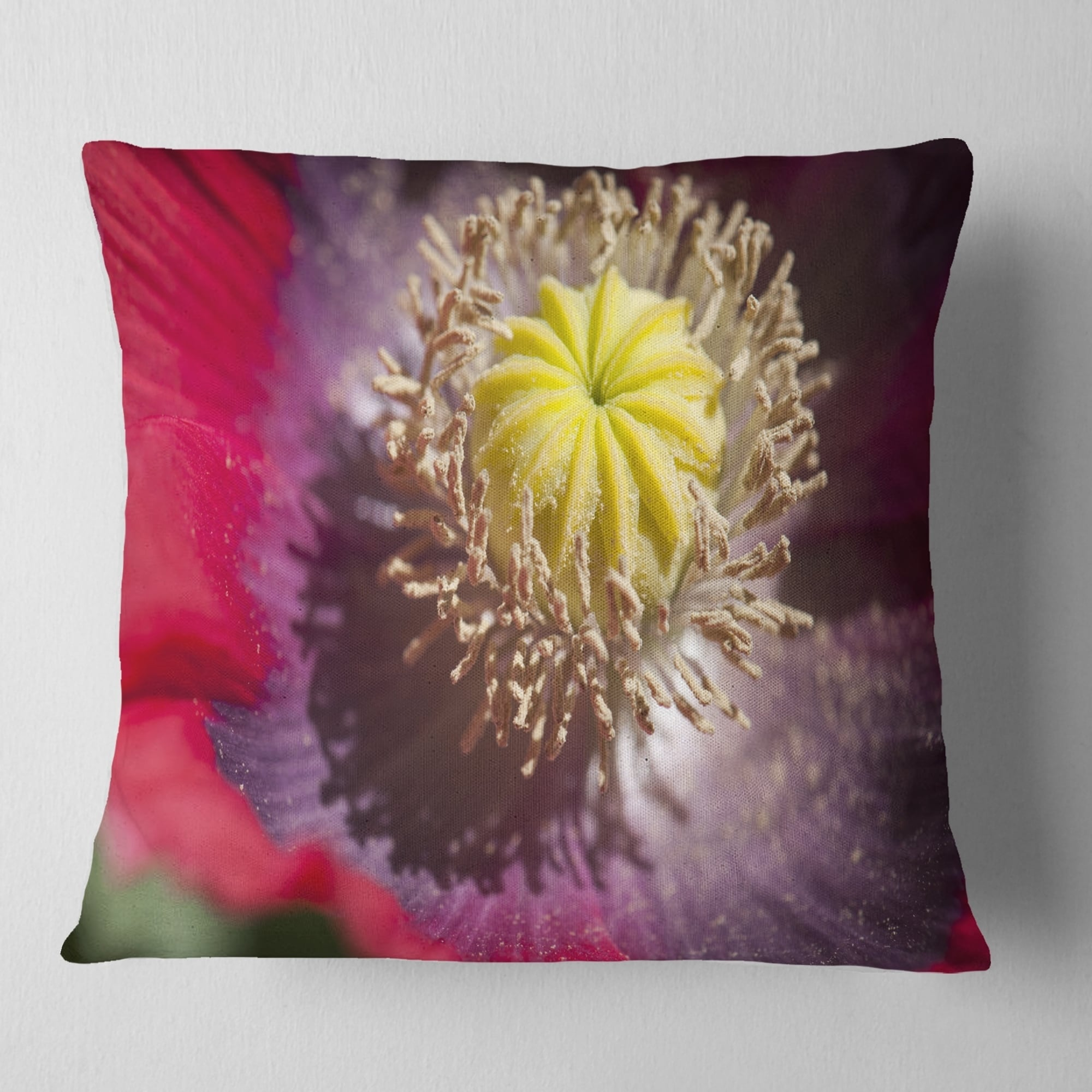 DESIGN ART Designart 'Colorful Opium Poppy Flower Photo
