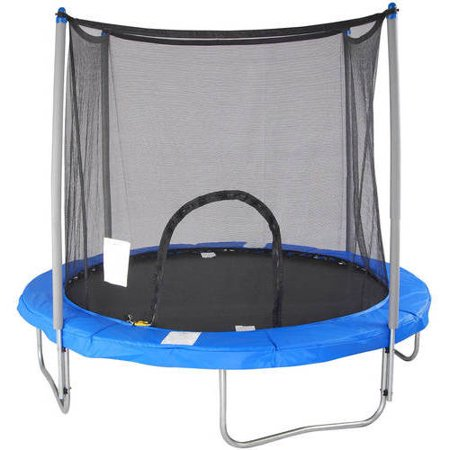 Airzone 8-Foot Trampoline, with Safety Enclosure, Blue