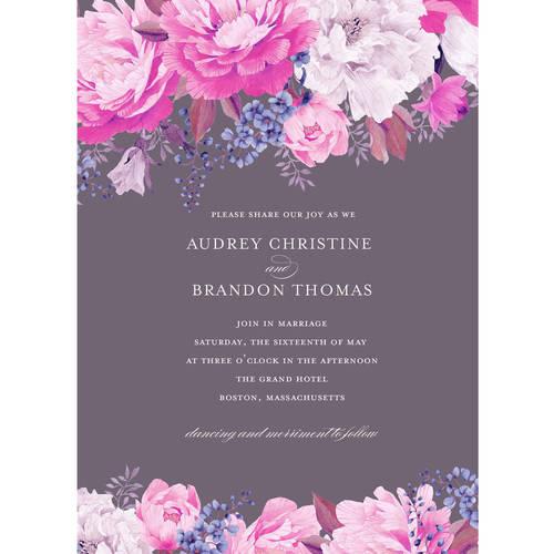 Enchanting Blossoms Standard Wedding Invitation Walmart Com