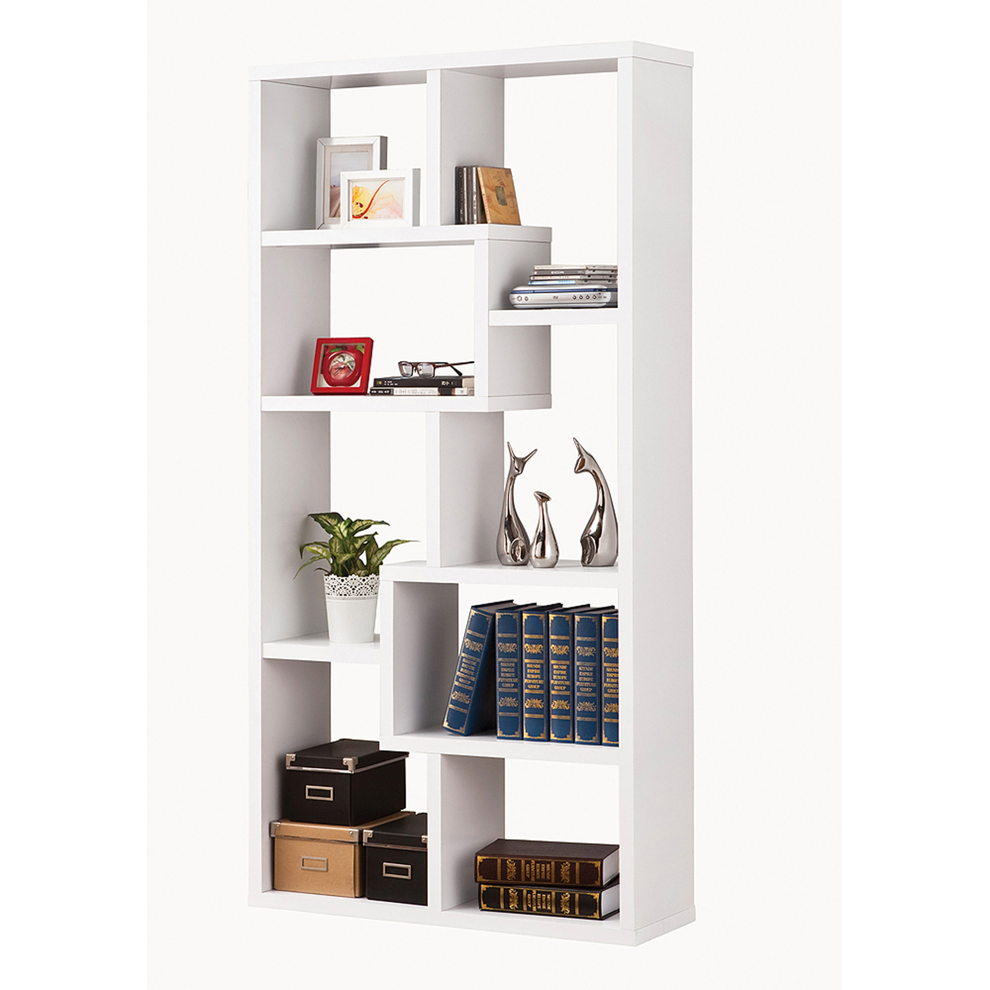 Coaster Company Interlocking White Bookcase