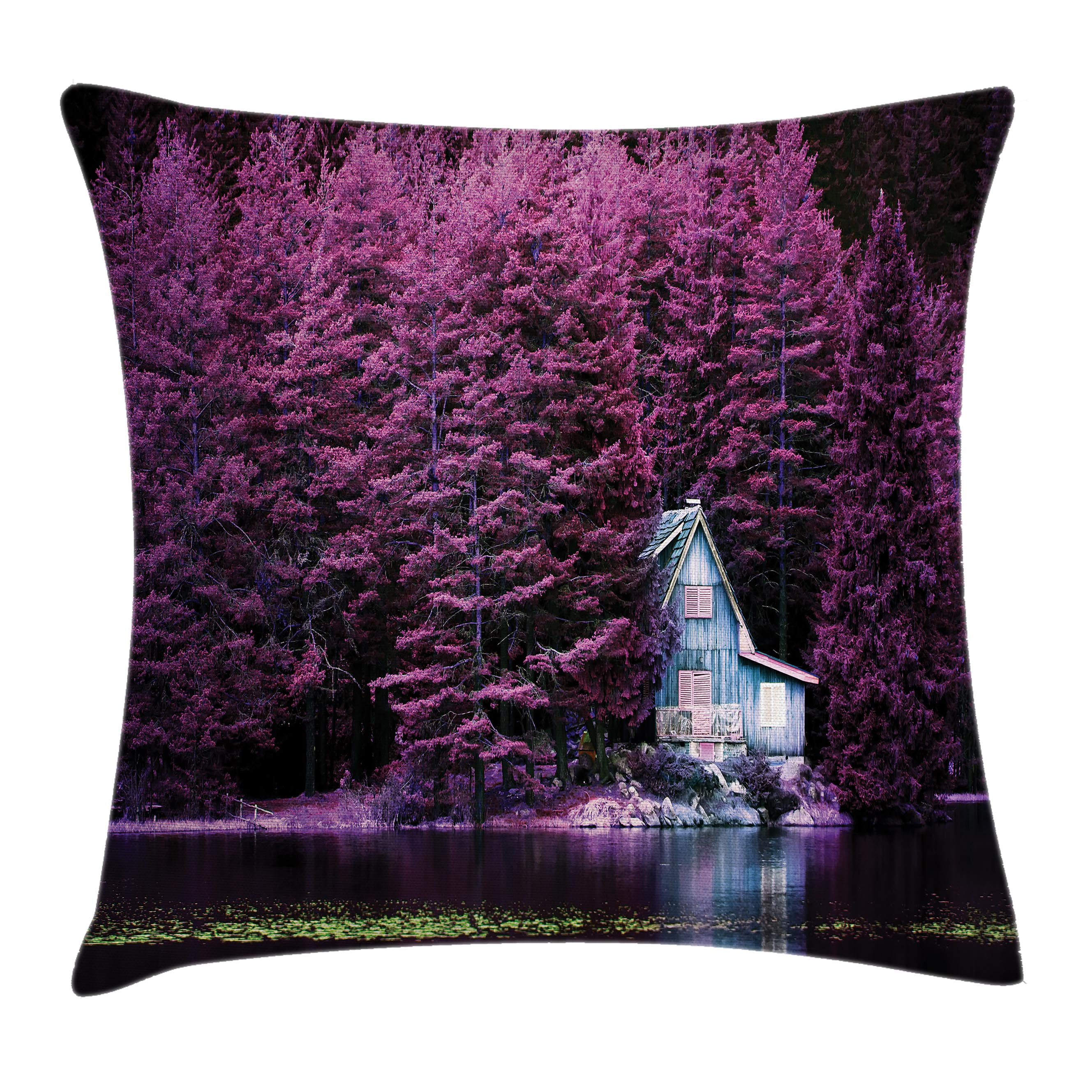 Spring Home Decor 2019: Lavender Throw Pillow Cushion Cover, Purple Trees By A