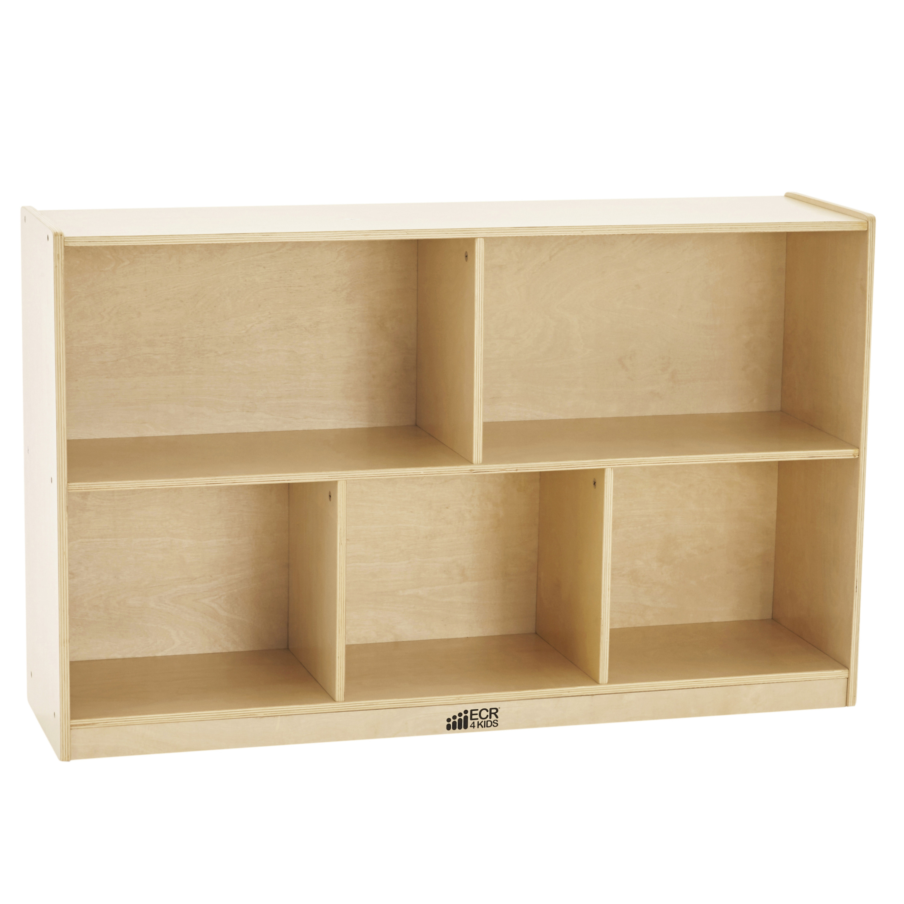 ECR4Kids Birch 5-Compartment Storage Cabinet 30in H