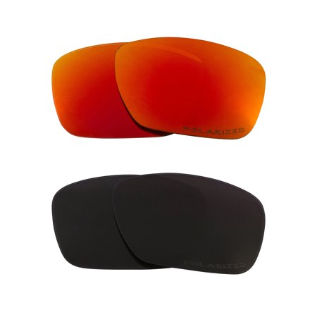 853c8fe721d Seek Optics - TINCAN Replacement Lenses Polarized Black   Red by SEEK fits  OAKLEY Sunglasses - Walmart.com