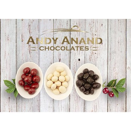 Divine Dark Chocolate - Andy Anand Chocolate Coated Cherry Bridge of Dark, Milk & White Chocolate Gift Boxed & Greeting Card, Delicious Succulent & Divine, Birthday Anniversary Christmas Holiday Fathers Day (1lbs)